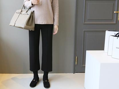 Mingki Monaco mink fur-lined pants