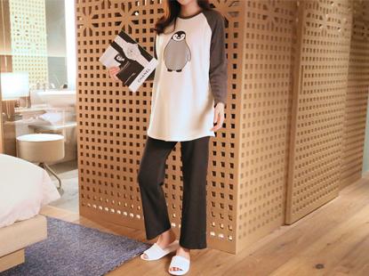 Nageurang Penguin T-feeding, brushed lining