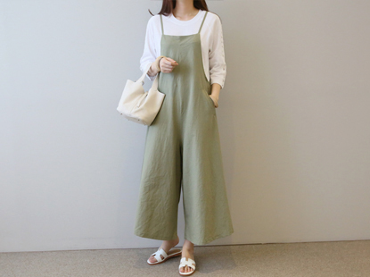 Take jump suit linen material